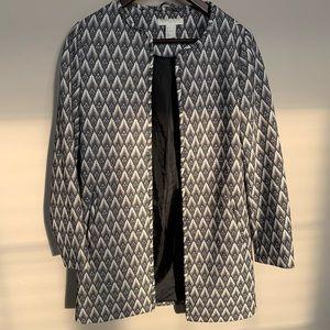 H&M chevron coat in cream taupe & black
